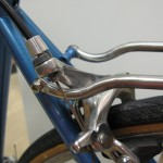 Seatstay in place (minus a spacer)