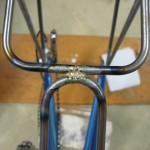 Seatstay brace brazed in place